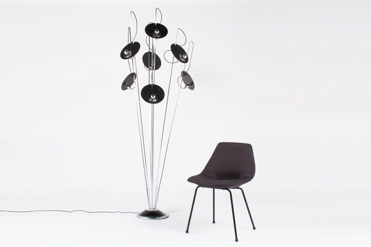 italienische stehlampe mit sieben armen 1970er bei pamono kaufen. Black Bedroom Furniture Sets. Home Design Ideas