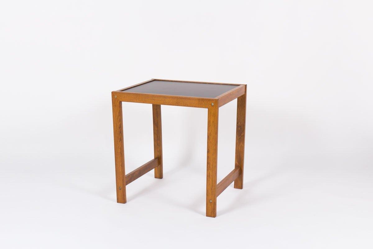 petit bureau avec plateau lamin noir de andre sornay 1950s en vente sur pamono. Black Bedroom Furniture Sets. Home Design Ideas