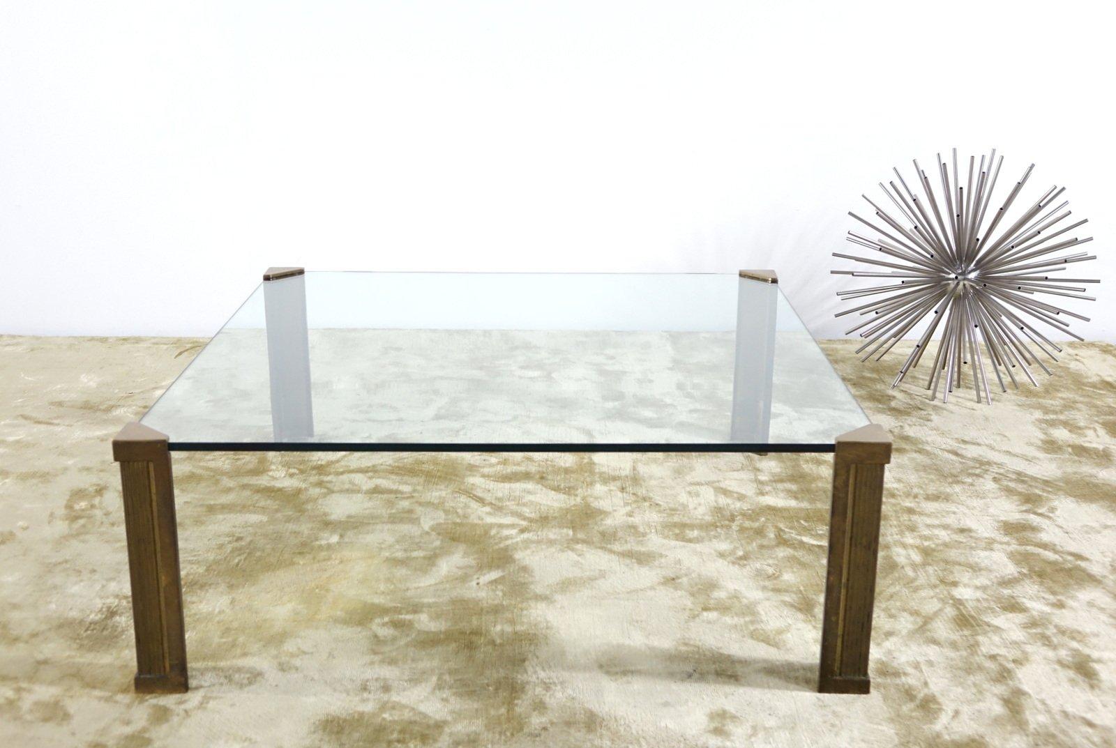 t14 glas messing couchtisch von peter ghyczy 1970er bei pamono kaufen. Black Bedroom Furniture Sets. Home Design Ideas
