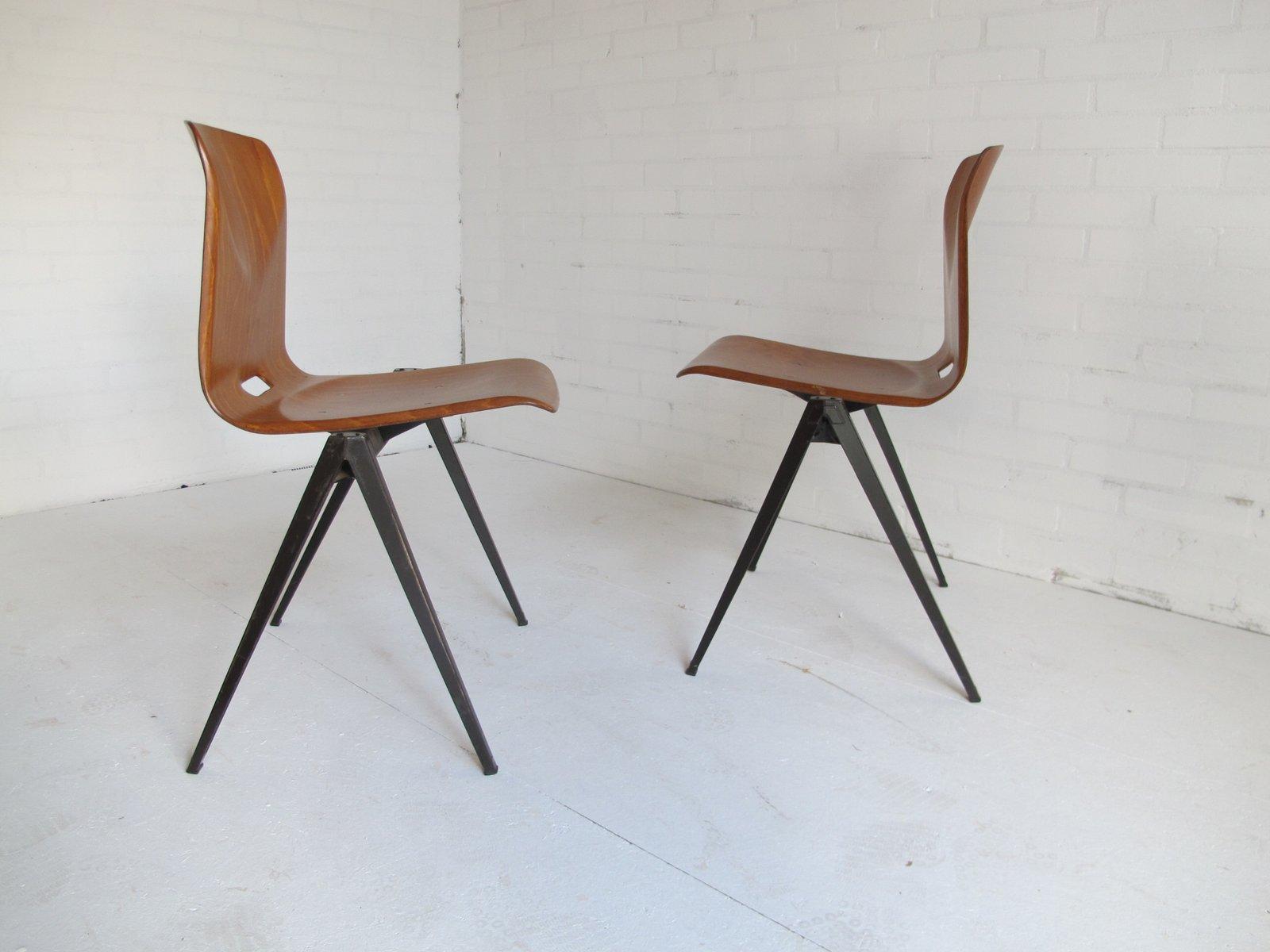 industrielle vintage esszimmerst hle von galvanitas 1967. Black Bedroom Furniture Sets. Home Design Ideas