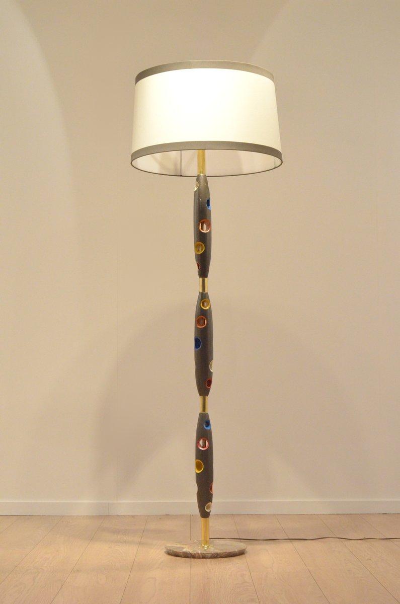 mehrfarbige italienische mid century stehlampe aus bunt lackiertem holz bei pamono kaufen. Black Bedroom Furniture Sets. Home Design Ideas