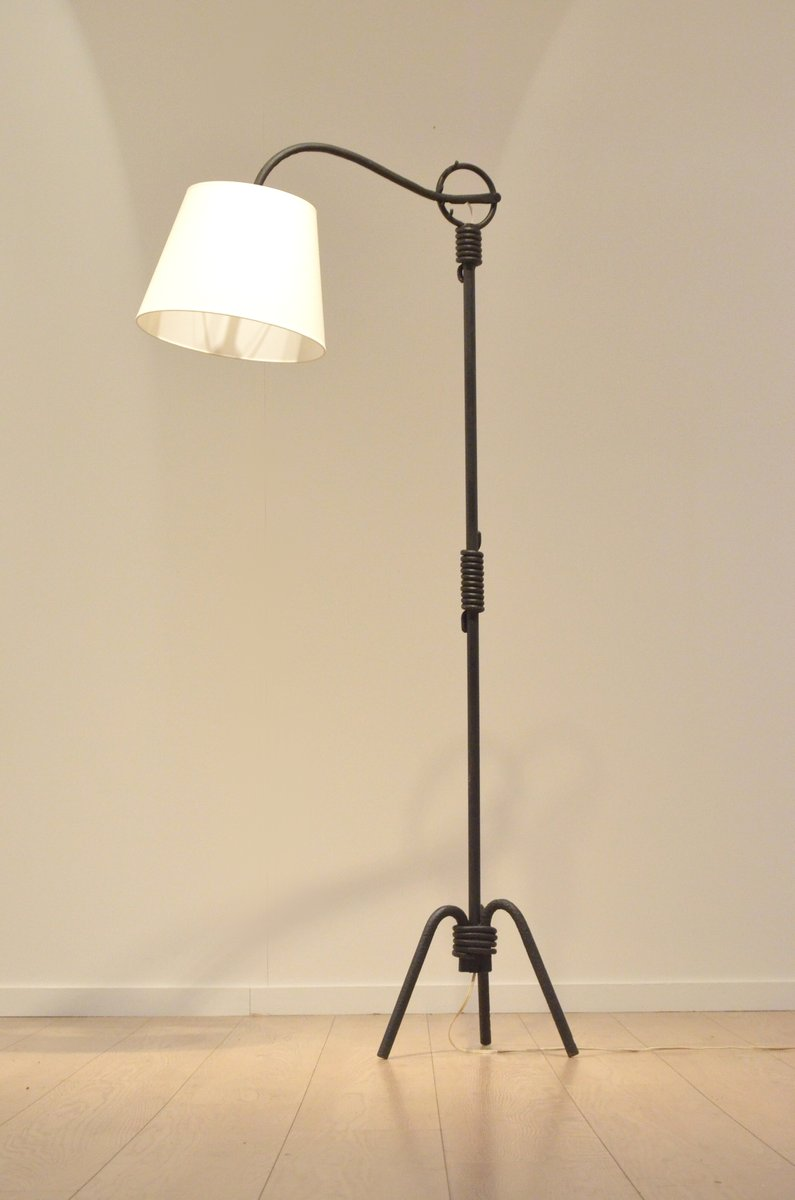 Mid century french sculptural wrought iron floor lamp for sale at pamono mid century french sculptural wrought iron floor lamp mozeypictures Images
