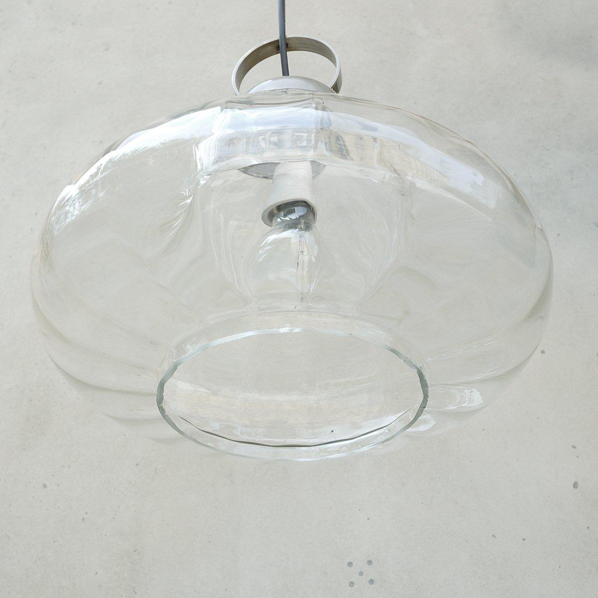 vintage h ngelampe aus lichtdurchl ssigem glas bei pamono kaufen. Black Bedroom Furniture Sets. Home Design Ideas