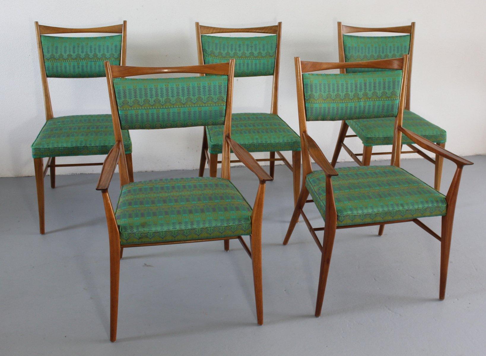Se da pranzo in legno di noce americano di Paul McCobb anni 50 set di 5 in vendita su Pamono