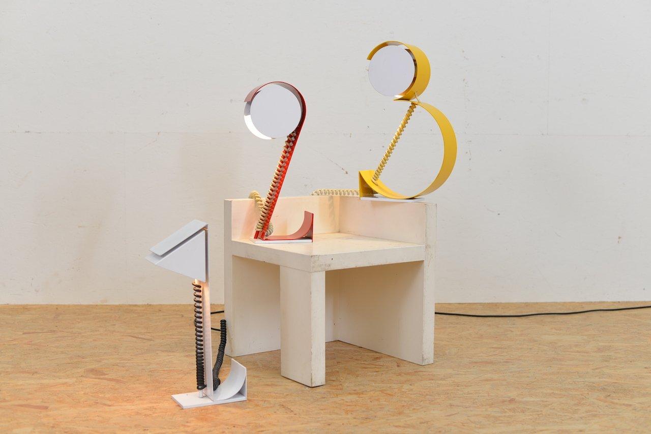 Lampade da tavolo vintage a forma di numeri set di 3 in - Lampade da tavolo vintage ...
