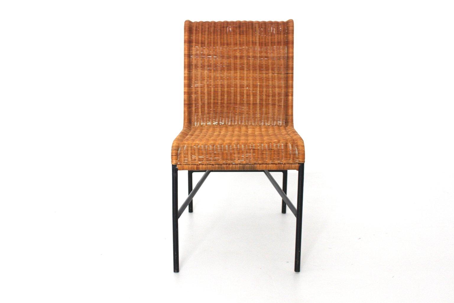 Rattan Esszimmerstühle mid century modern rattan stuhl harold cohen davis pratt 1953