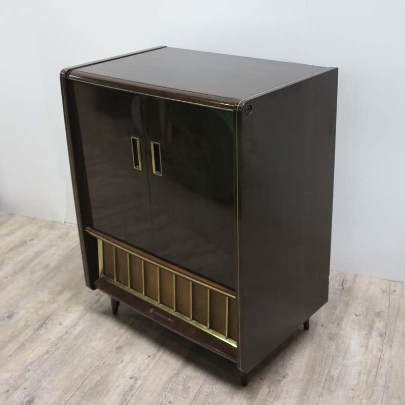 Meuble tv avec tag re ajustable 1950s en vente sur pamono for Meuble tv avec etagere