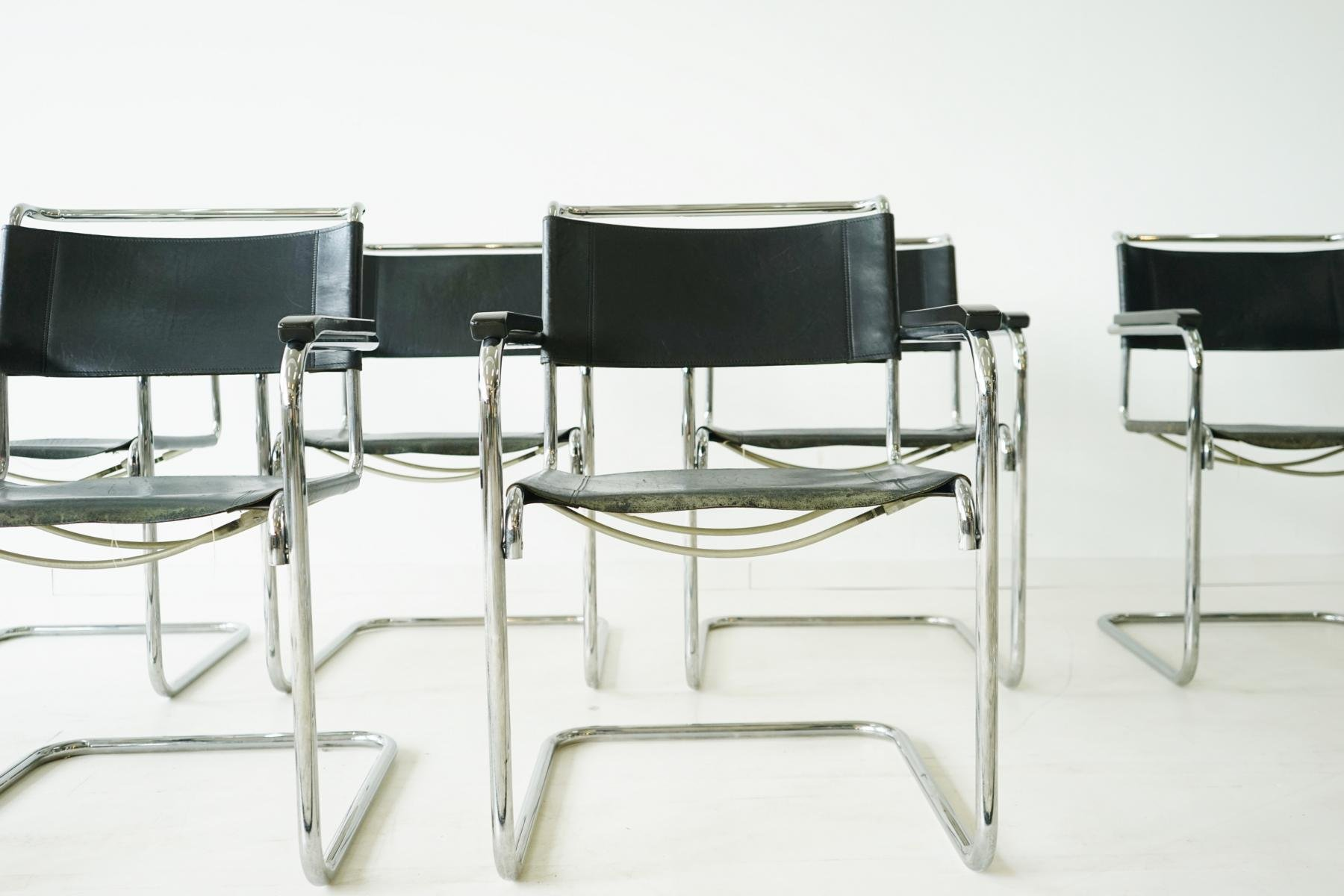 S 34 Cantilevered Armchairs By Mart Stam For Thonet Set