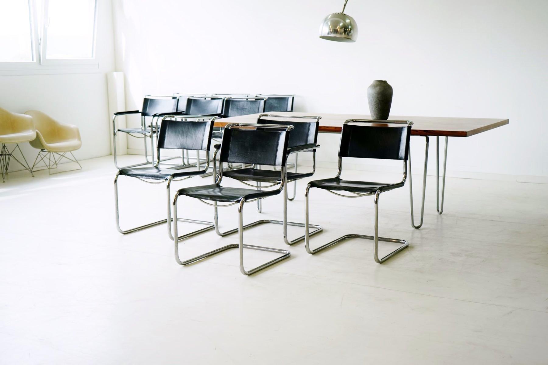 freischwinger von mart stam f r thonet 4er set bei pamono kaufen. Black Bedroom Furniture Sets. Home Design Ideas