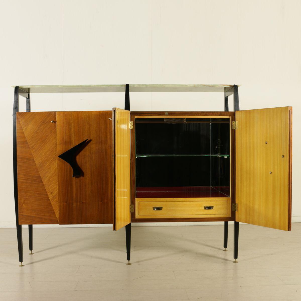 Wohnzimmer Schrank aus Ahorn & Mahagoni Furnier, 1950er bei Pamono ...