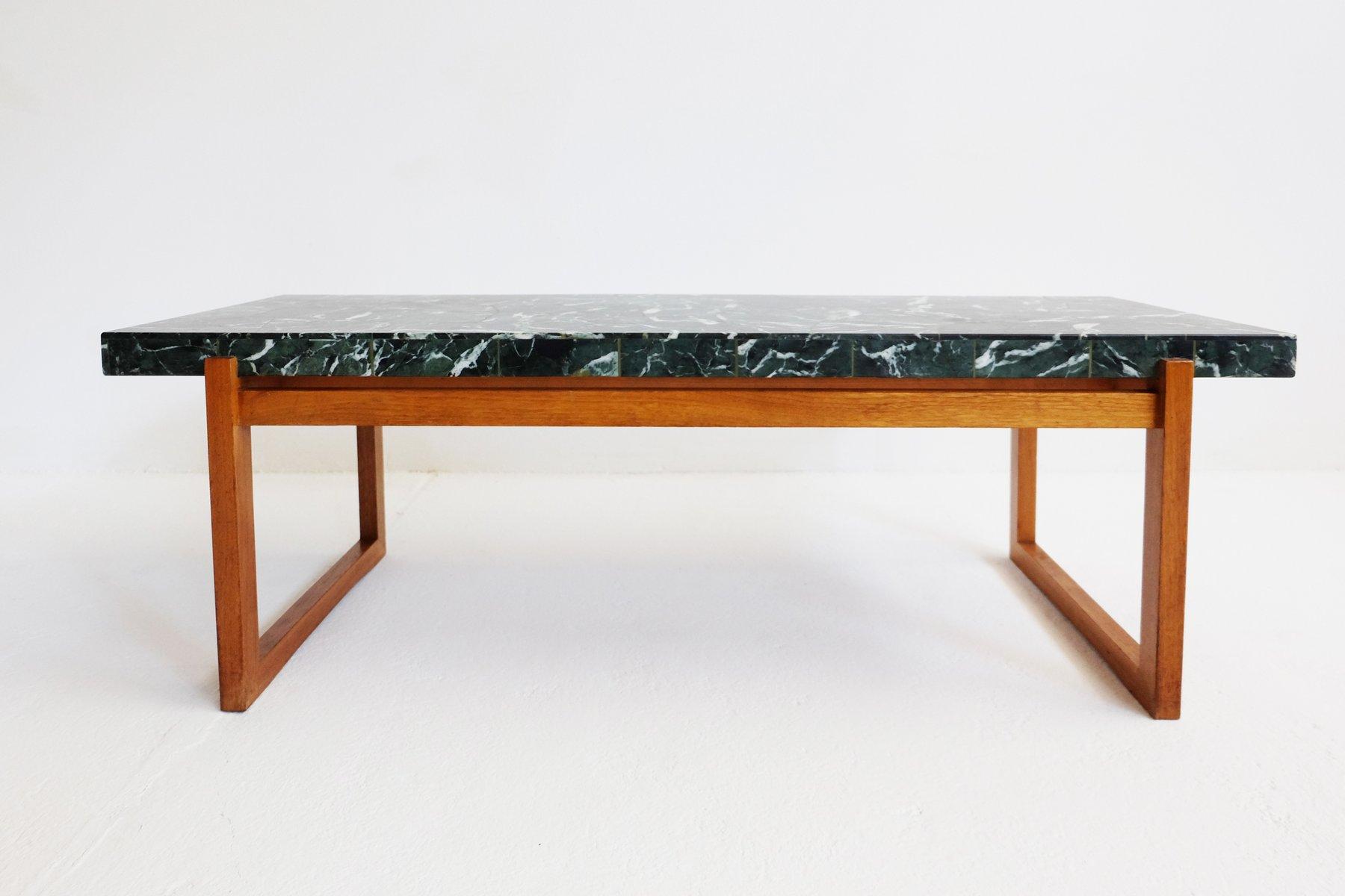 gr ner marmor couchtisch 1960er bei pamono kaufen. Black Bedroom Furniture Sets. Home Design Ideas