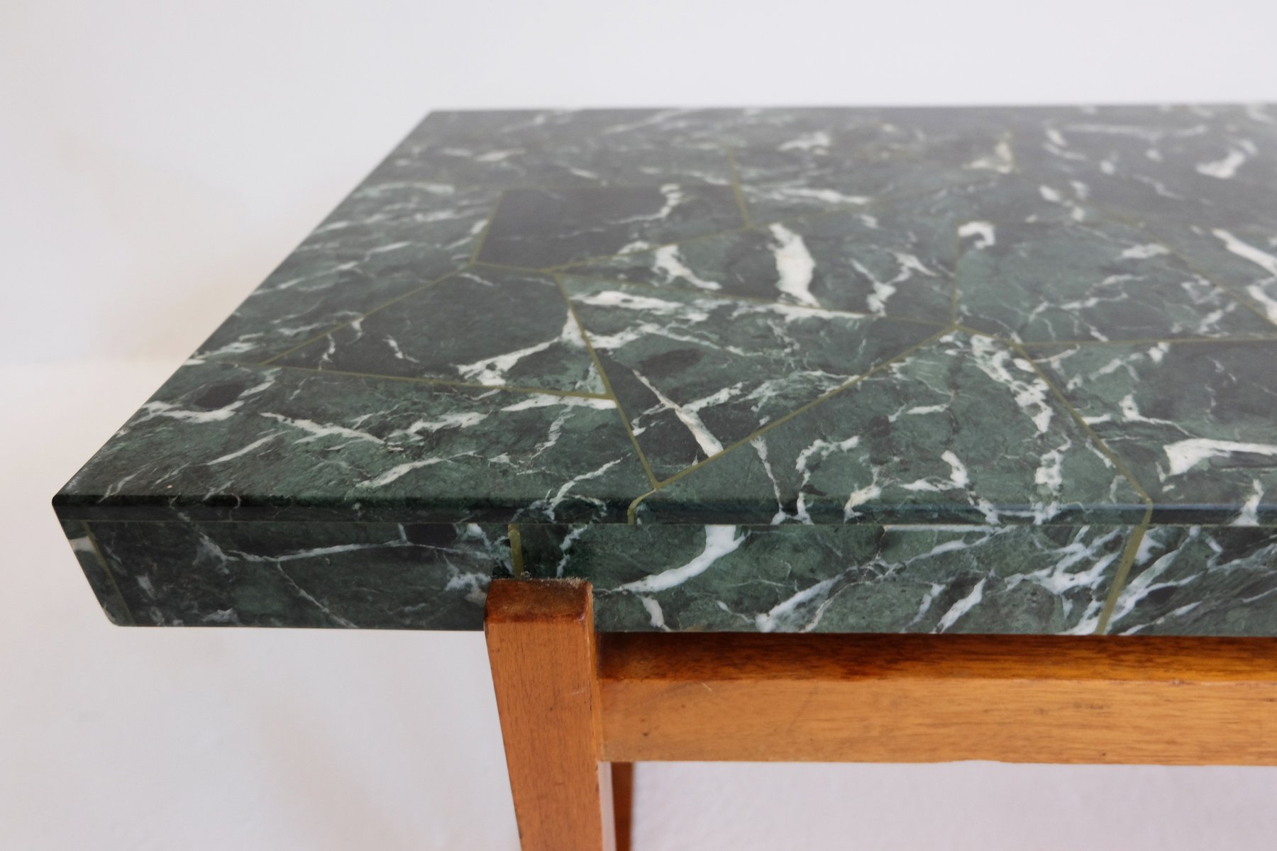 Green Marble Coffee Table 1960s for sale at Pamono