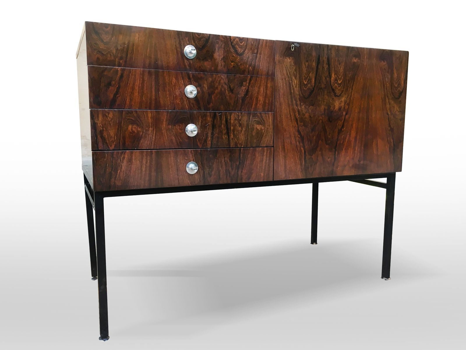 Vintage sideboard 800 by alain richard for meubles tv for for Ameublement retro