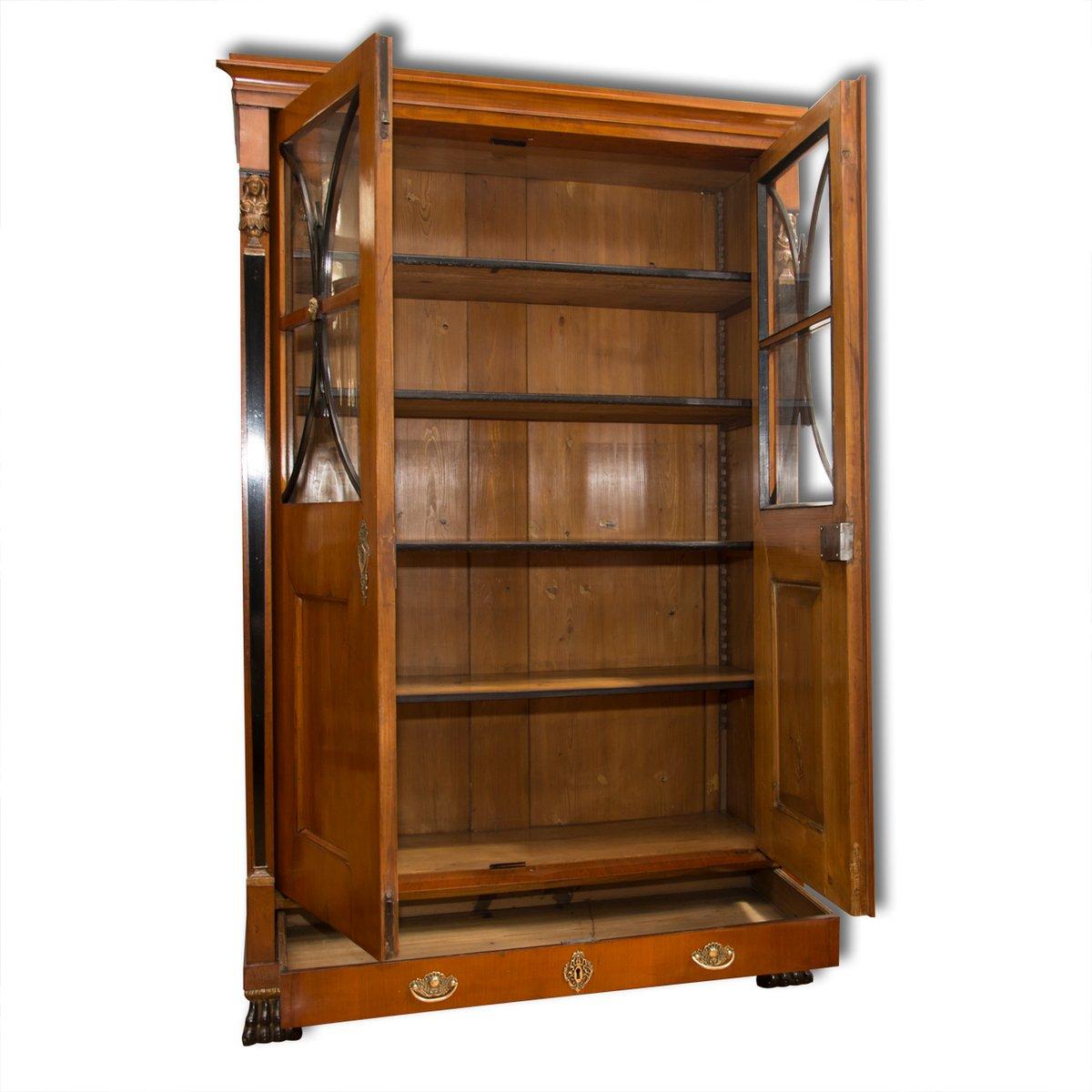 Antique Biedermeier Bookcase 1830s
