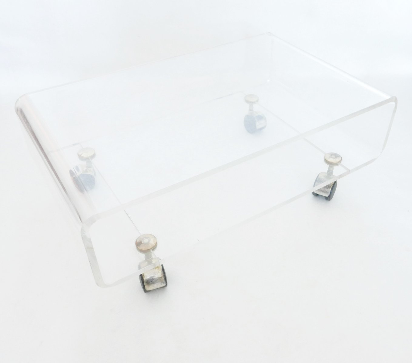 Vintage Side Table In Plexiglass By David Lange