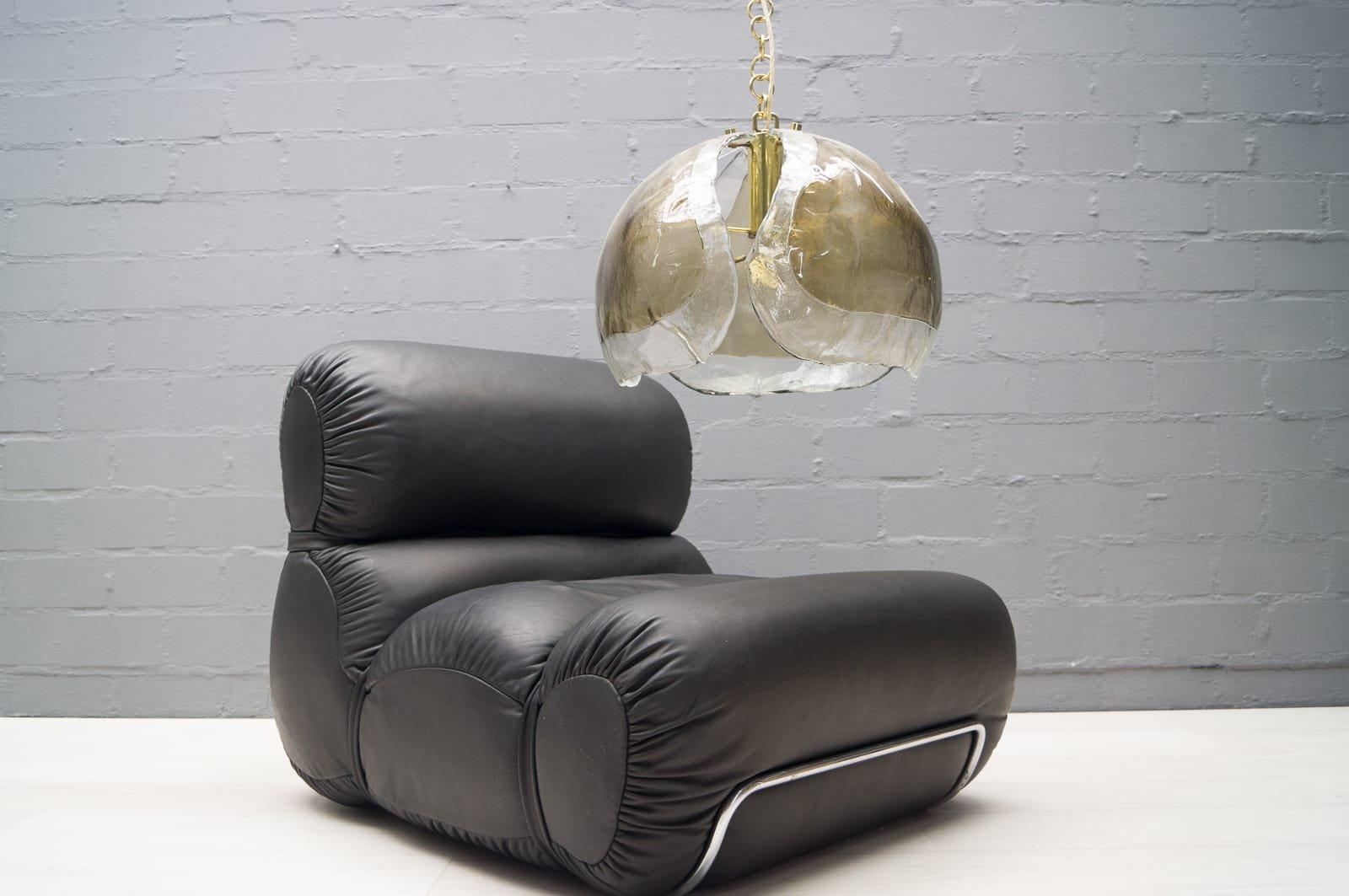 mid century lampen aus mazzega glas von kaiser leuchten. Black Bedroom Furniture Sets. Home Design Ideas