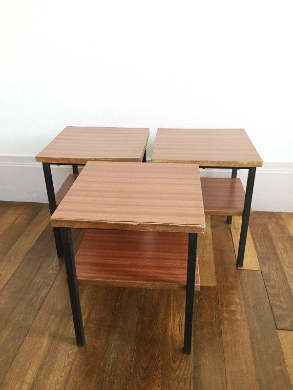 Formica beistelltische 1960er 3er set bei pamono kaufen for Beistelltische 3er set modern