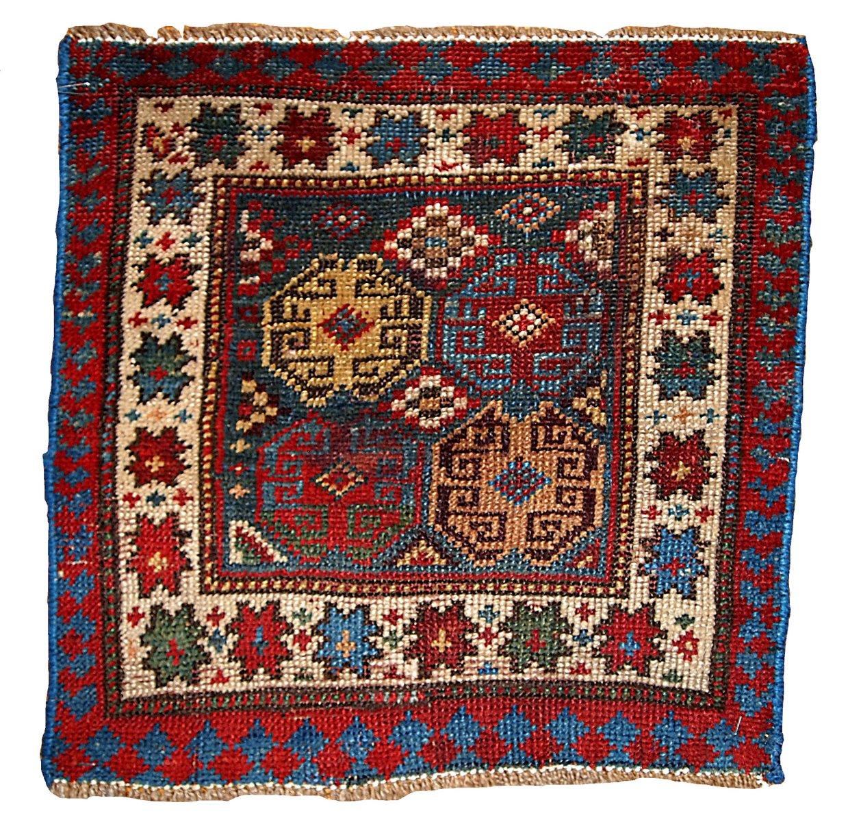Russische Teppiche antiker handgemachter russischer bagface teppich 1880er bei pamono