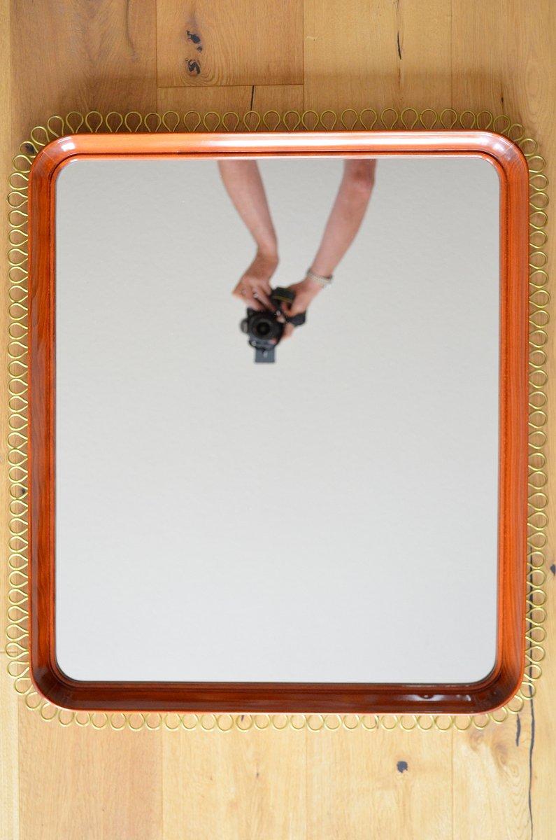 skandinavischer spiegel mit schlaufen rahmen 1960er bei pamono kaufen. Black Bedroom Furniture Sets. Home Design Ideas