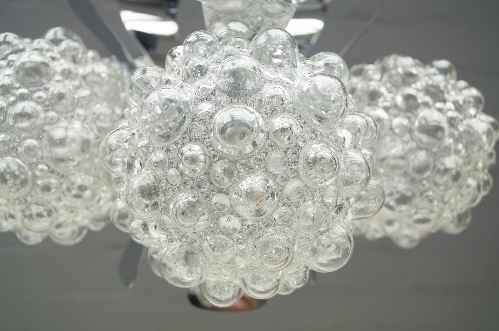 Chrome Bubble Glass Ceiling Light by Helena Tynell for Limburg