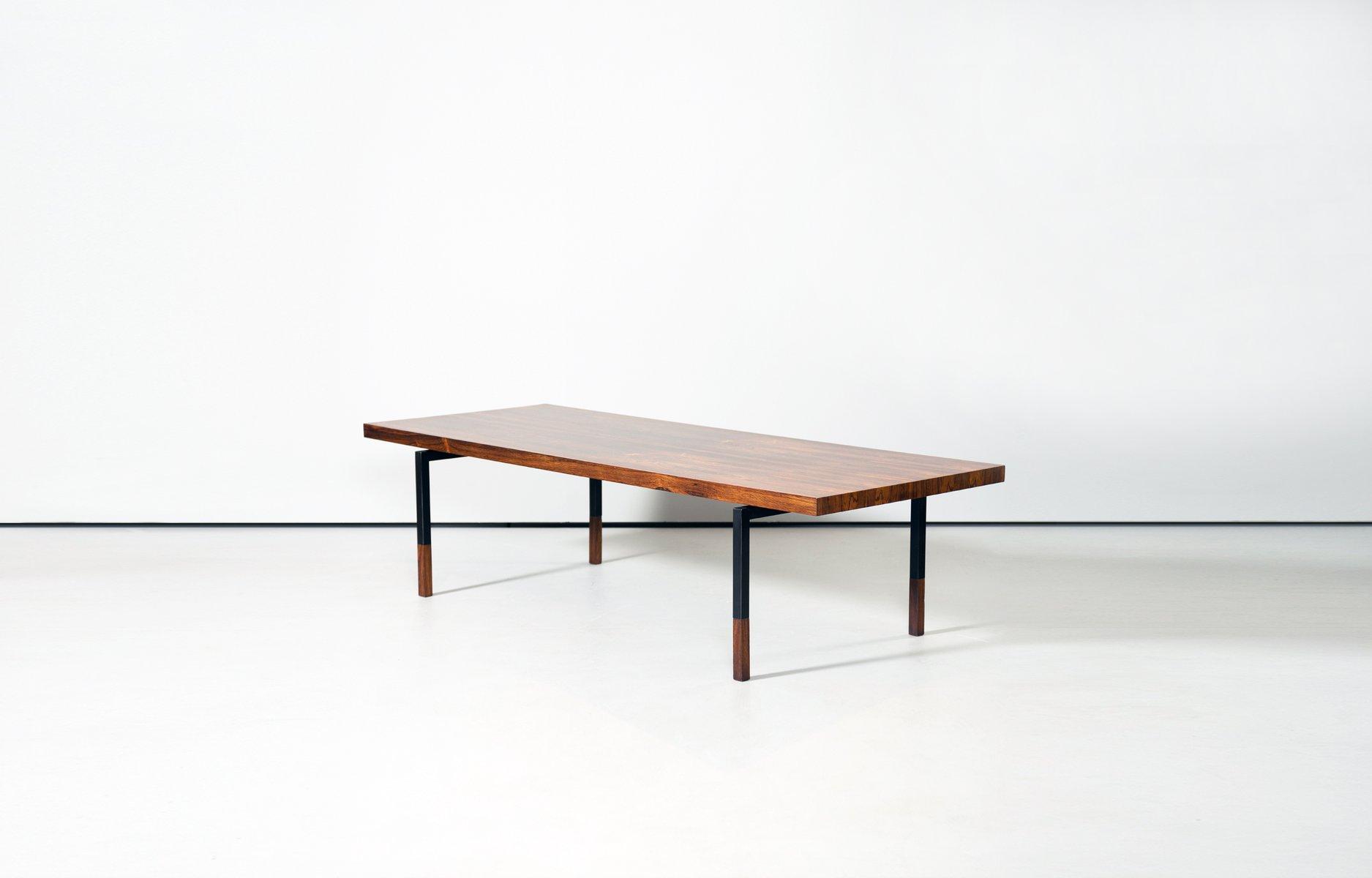 vintage tisch aus palisander metall von johannes aasbjerg bei pamono kaufen. Black Bedroom Furniture Sets. Home Design Ideas