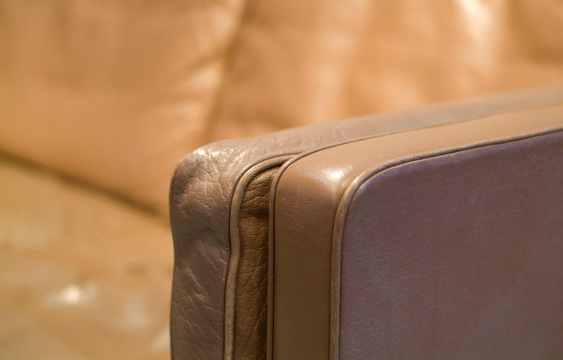 braunes mid century modell 2213 3 sitzer ledersofa von b rge mogensen f r fredericia 1977 bei. Black Bedroom Furniture Sets. Home Design Ideas