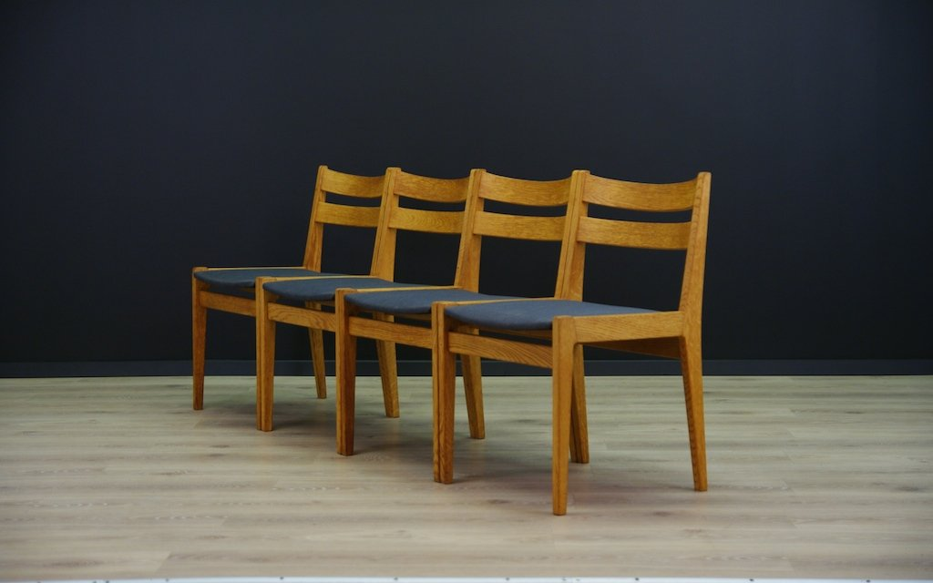 Mid Century Danish Ash Chairs Set Of 4 For Sale At Pamono