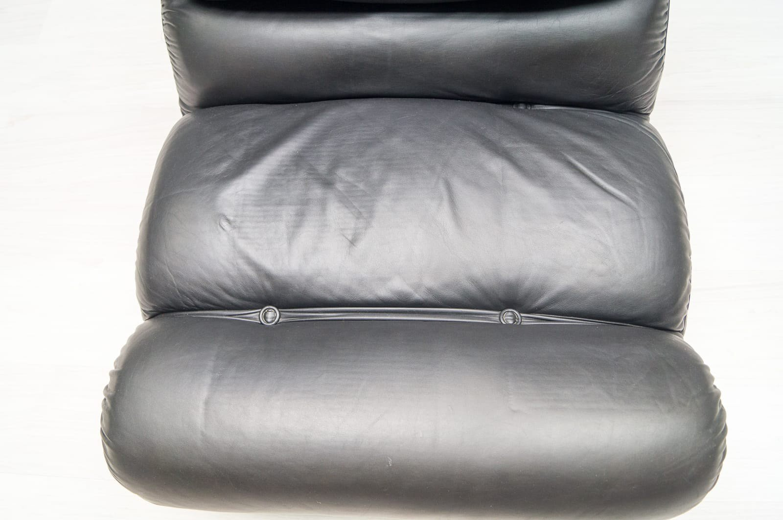 italienische orsola ledersessel von gastone rinaldi f r. Black Bedroom Furniture Sets. Home Design Ideas