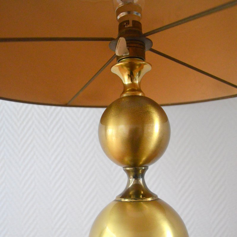 lampe de bureau en laiton france 1960s en vente sur pamono. Black Bedroom Furniture Sets. Home Design Ideas