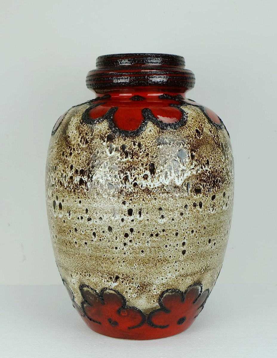Vintage floor vase with fat lava glaze from scheurich for sale at vintage floor vase with fat lava glaze from scheurich reviewsmspy