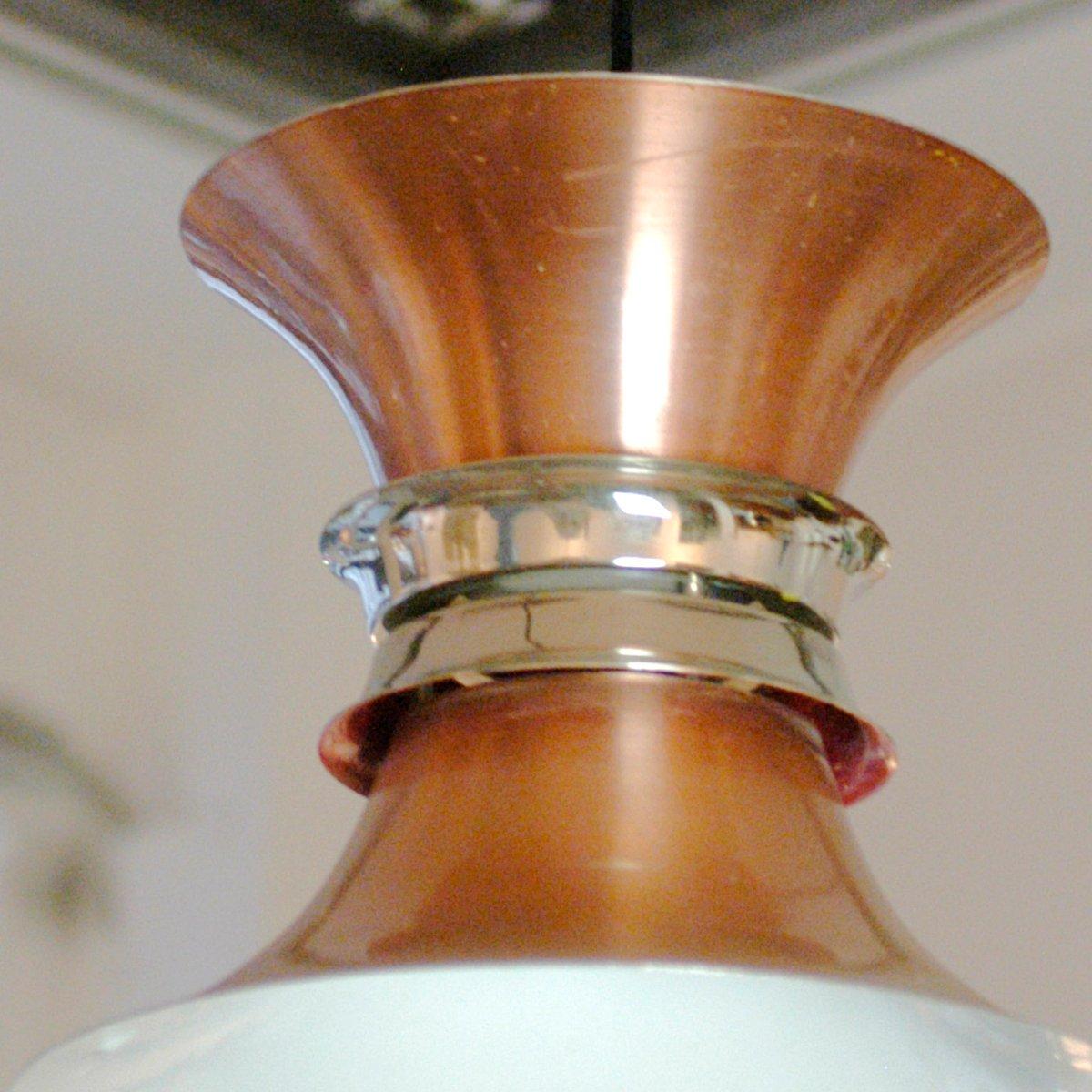 lampe suspension en cuivre danemark 1960s en vente sur pamono. Black Bedroom Furniture Sets. Home Design Ideas