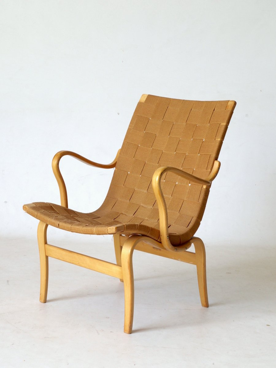 Swedish Eva Lounge Chair By Bruno Mathsson For Karl Mathsson, 1960s For  Sale At Pamono