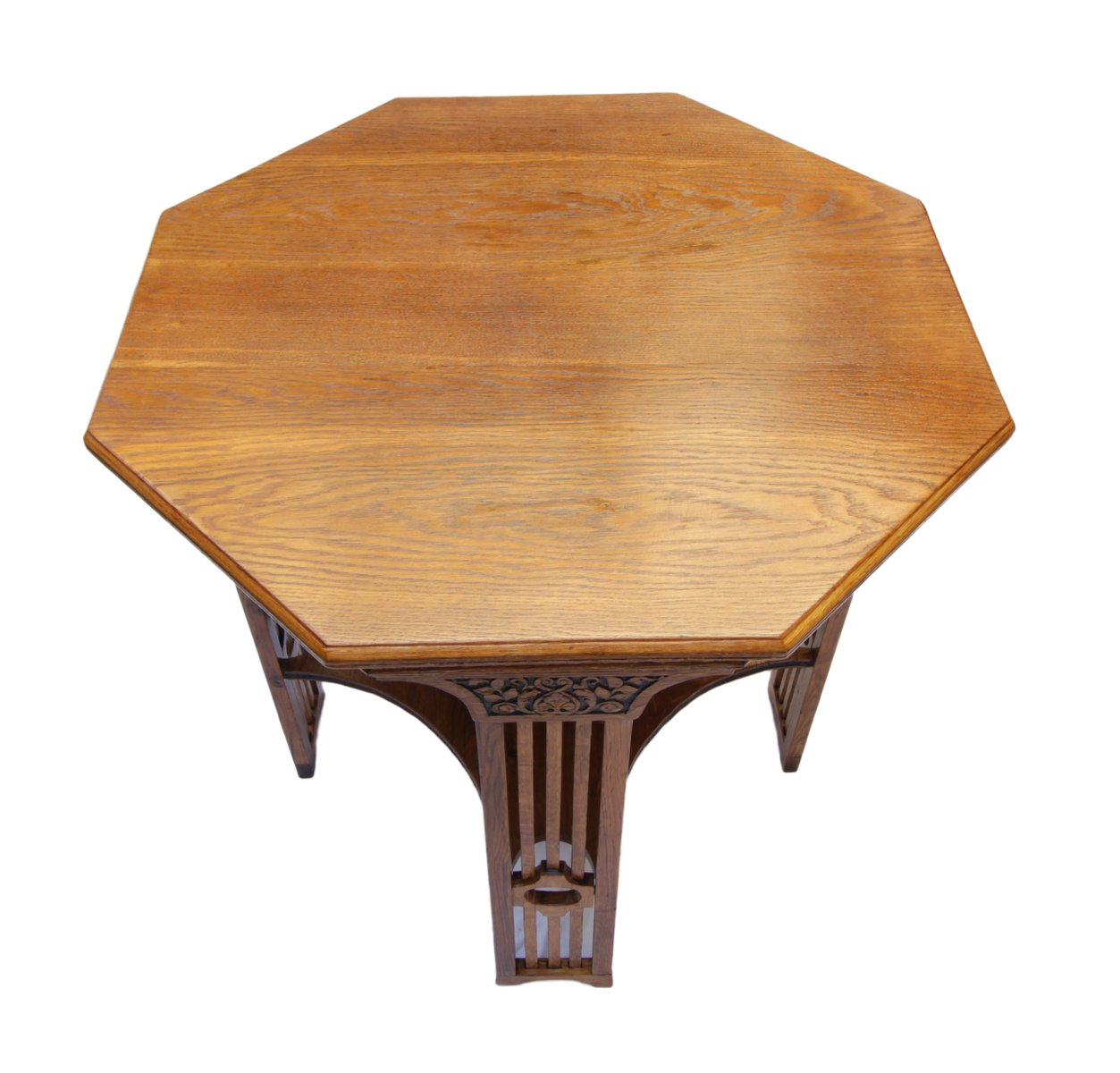art nouveau oak occasional table bei pamono kaufen