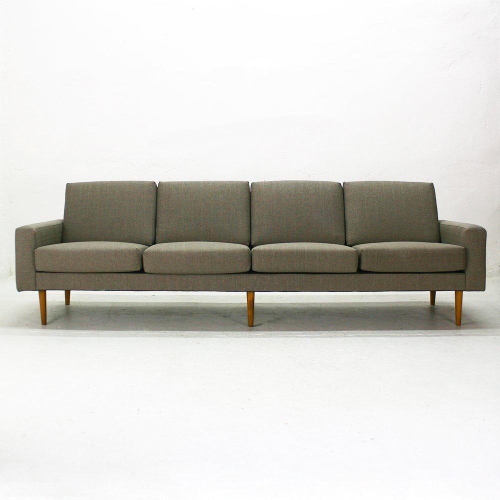 mid century modern vier sitzer sofa bei pamono kaufen. Black Bedroom Furniture Sets. Home Design Ideas