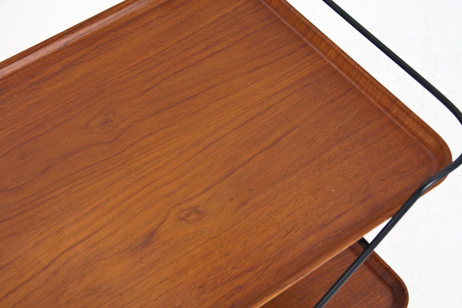 schwedischer vintage teak servierwagen 1960er bei pamono kaufen. Black Bedroom Furniture Sets. Home Design Ideas