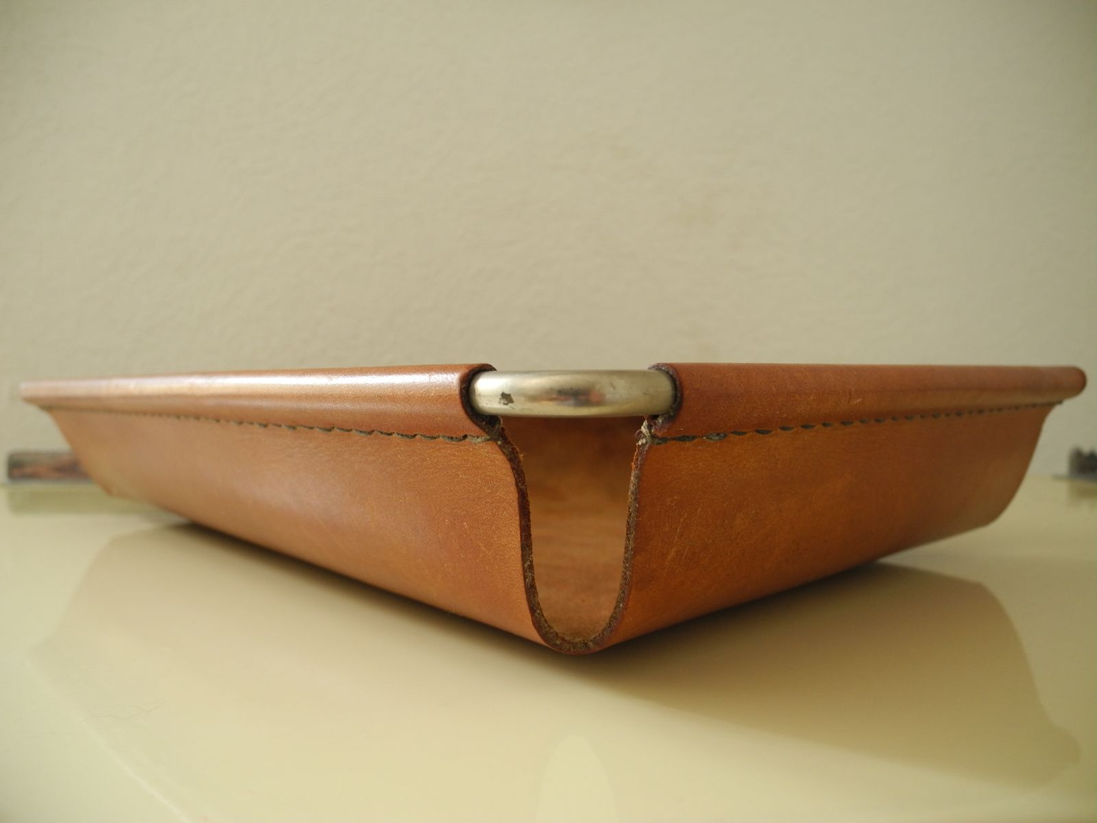 Vintage Cognac Leather Tray By Carl Aub 246 Ck For Sale At Pamono