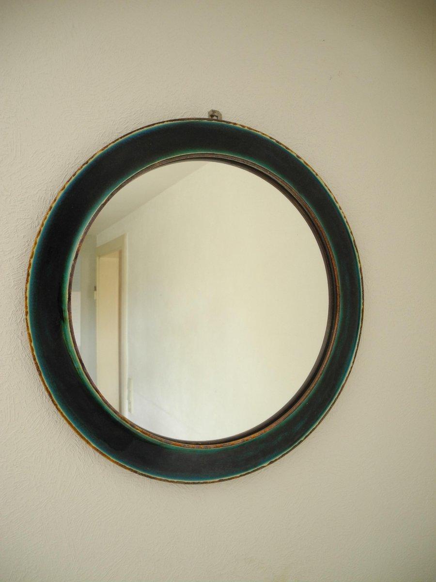 Gro Er Runder Spiegel runder tükisener steingut vintage spiegel vintage mit glaslasur bei pamono kaufen
