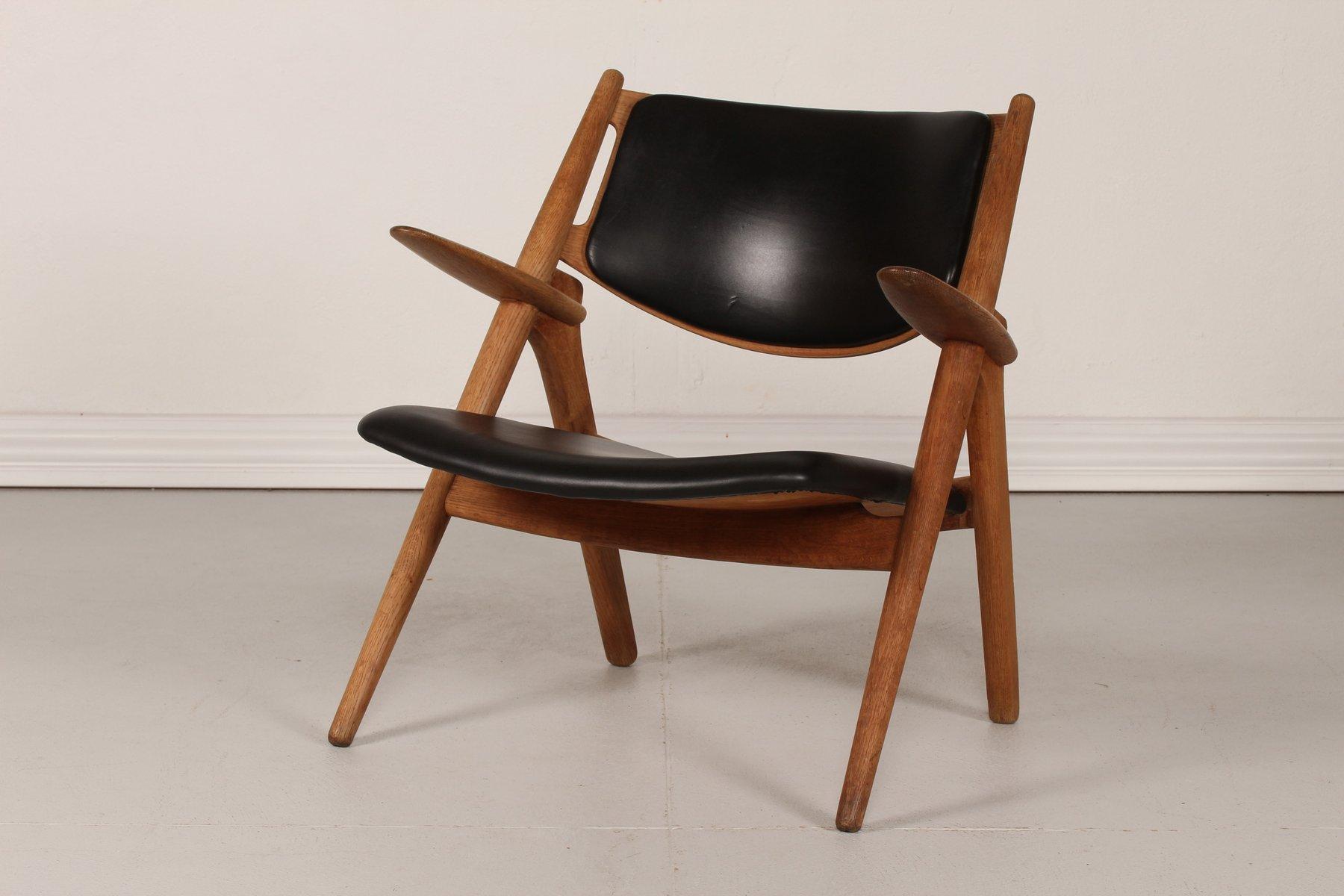 ch 28 eiche sawbench stuhl von hans j wegner f r carl hansen 1950er bei pamono kaufen. Black Bedroom Furniture Sets. Home Design Ideas
