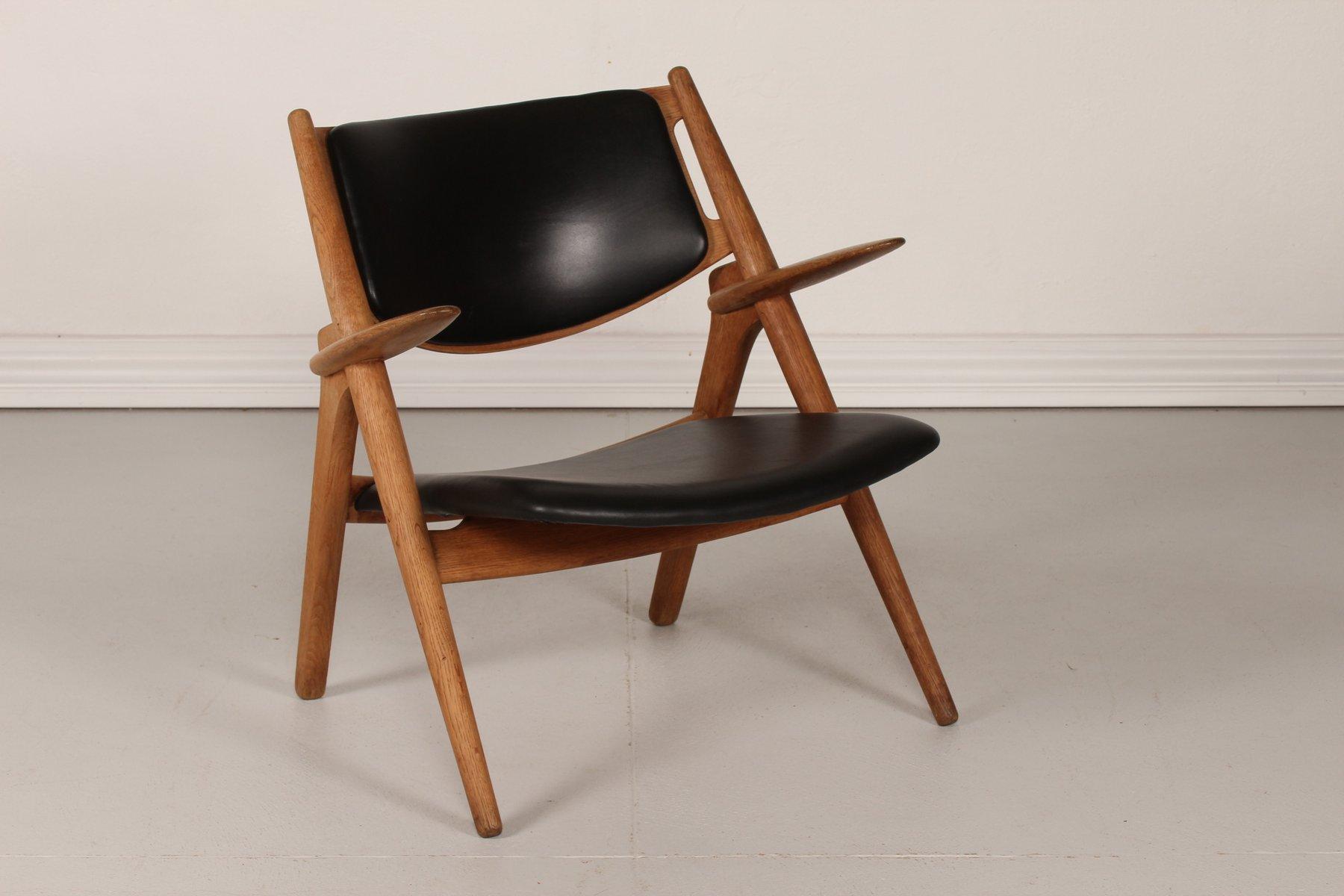 ch 28 eiche sawbench stuhl von hans j wegner f r carl. Black Bedroom Furniture Sets. Home Design Ideas