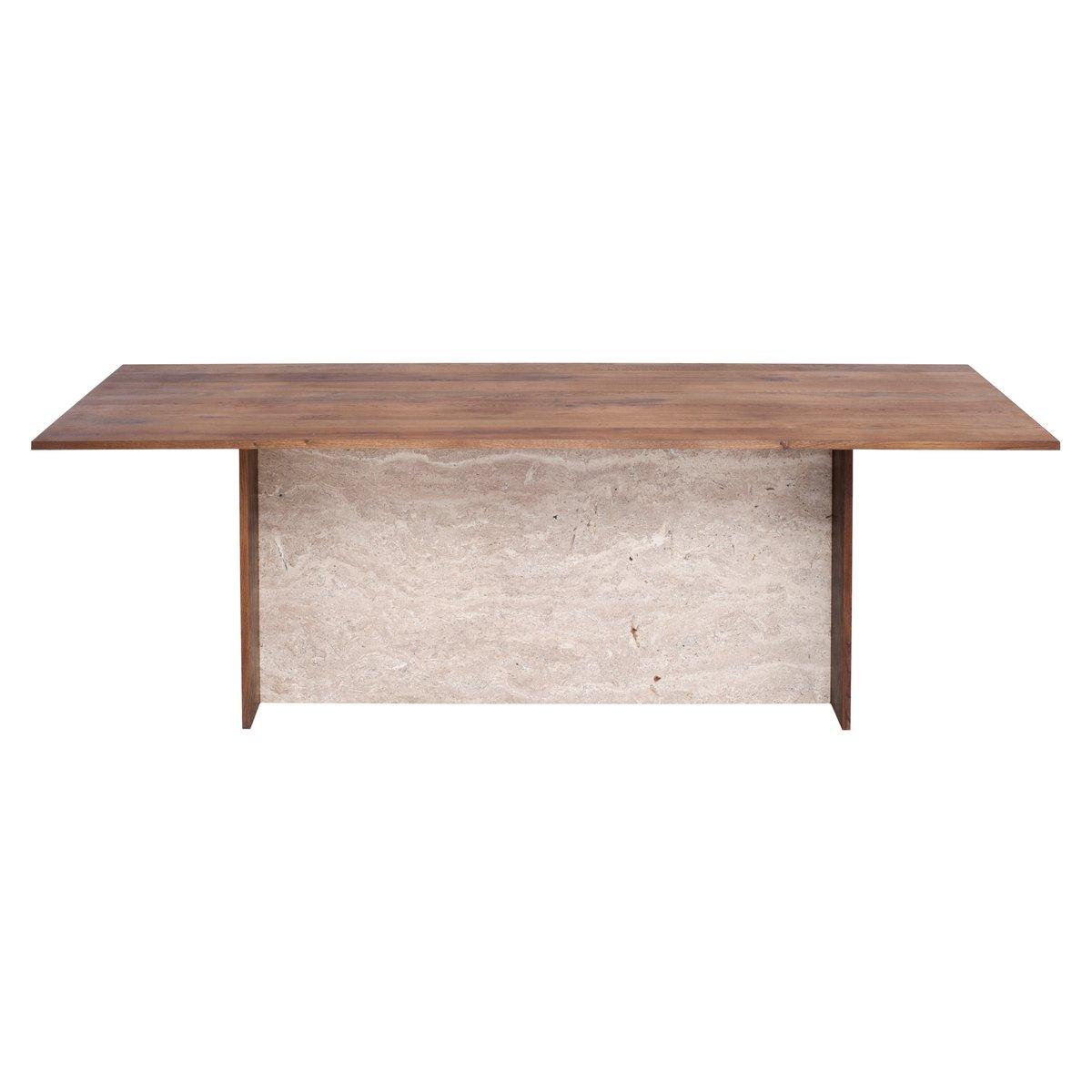 aditi tisch aus travertin und recyceltem eichenholz von. Black Bedroom Furniture Sets. Home Design Ideas