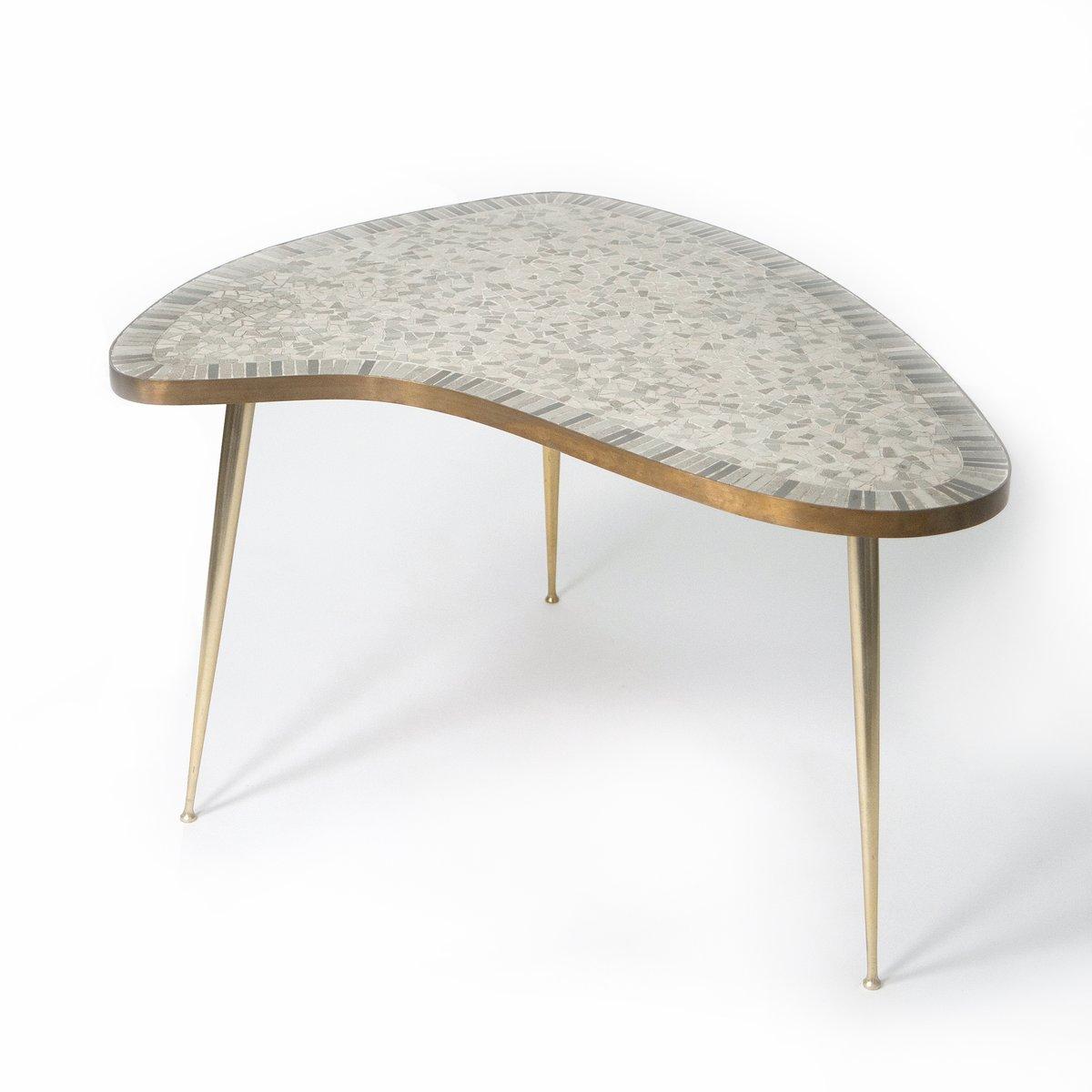 organischer messing couchtisch mit mosaik 1950er bei. Black Bedroom Furniture Sets. Home Design Ideas