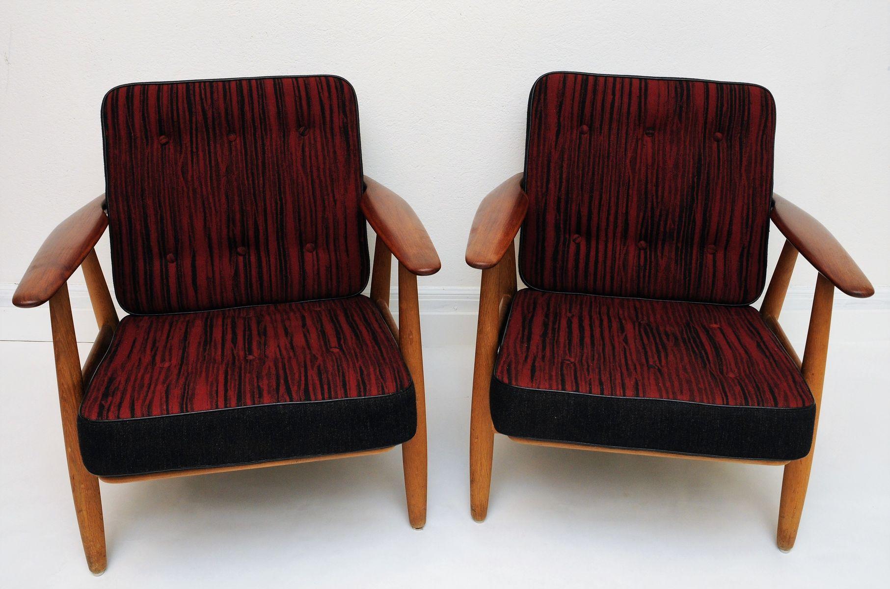 d nische vintage cigar sessel ge240 von hans j wegner f r. Black Bedroom Furniture Sets. Home Design Ideas