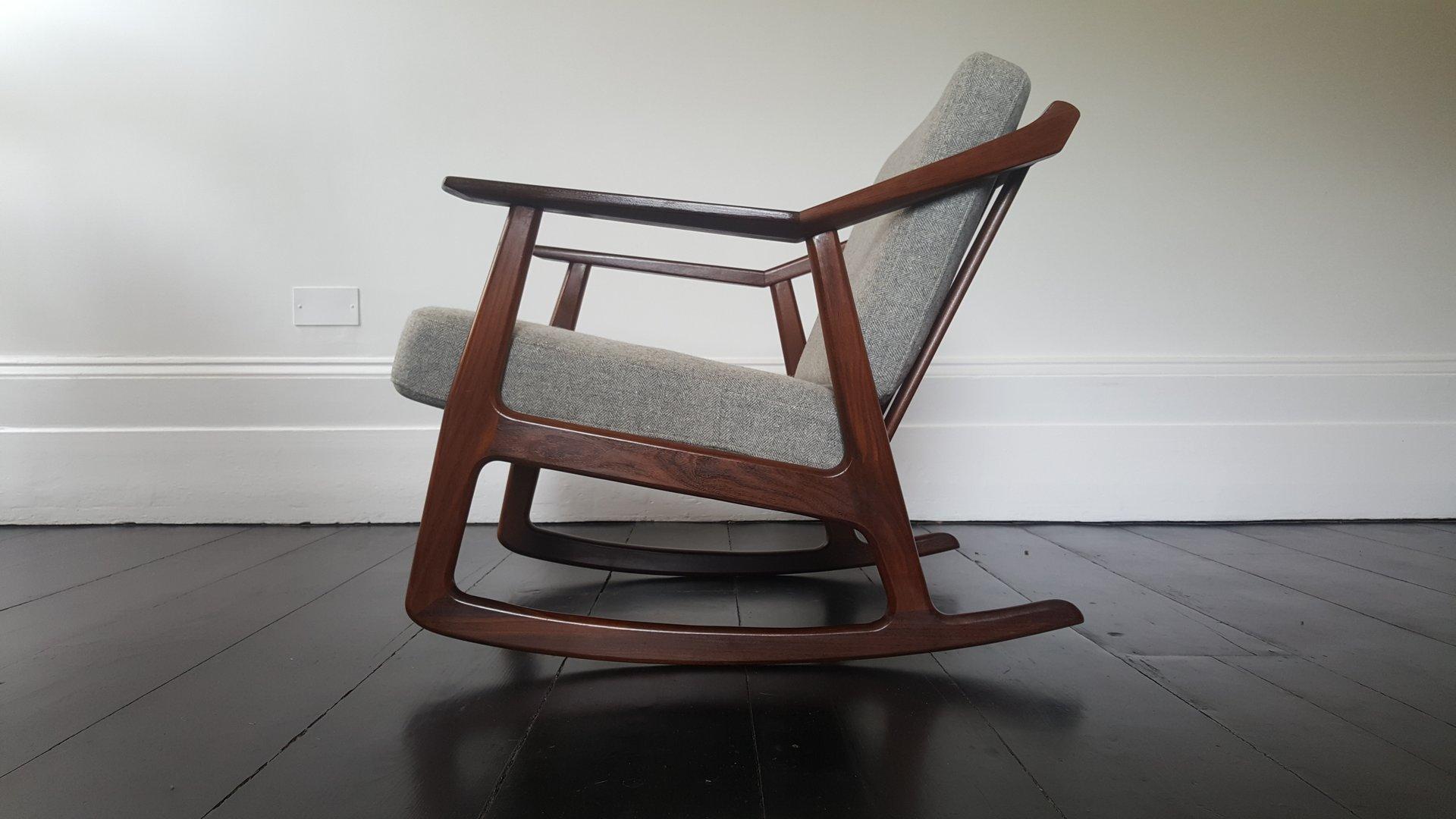 sur rocking chair mid vente century danish en pamono