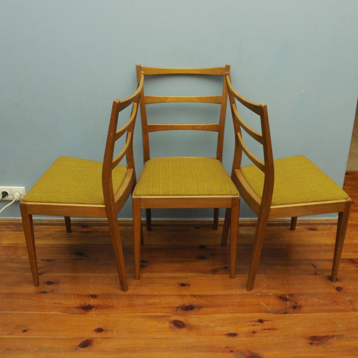 d nische st hle 1960er 3er set bei pamono kaufen. Black Bedroom Furniture Sets. Home Design Ideas