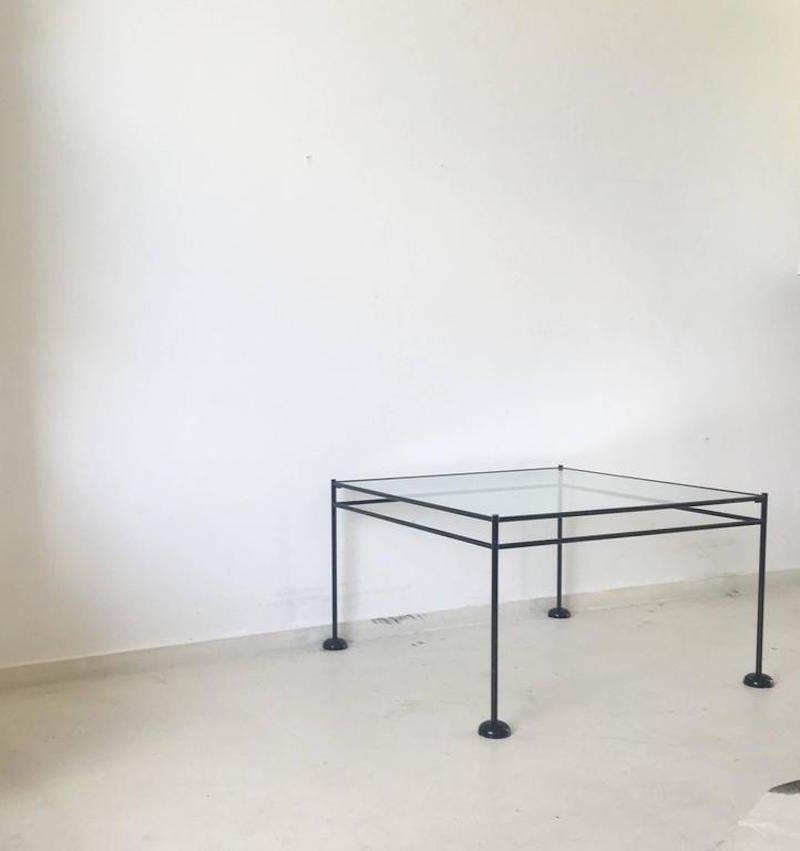 minimalistischer metall und glas couchtisch 1960er bei pamono kaufen. Black Bedroom Furniture Sets. Home Design Ideas