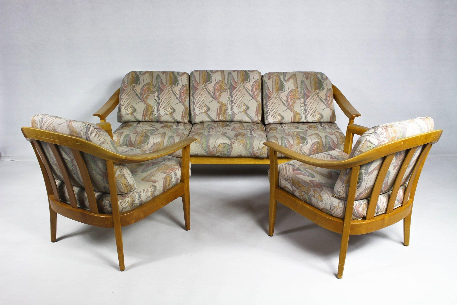 Deutsches Vintage Wohnzimmer Set Aus Kirschholz Von Wilhelm Knoll Für Knoll  Inc. / Knoll International