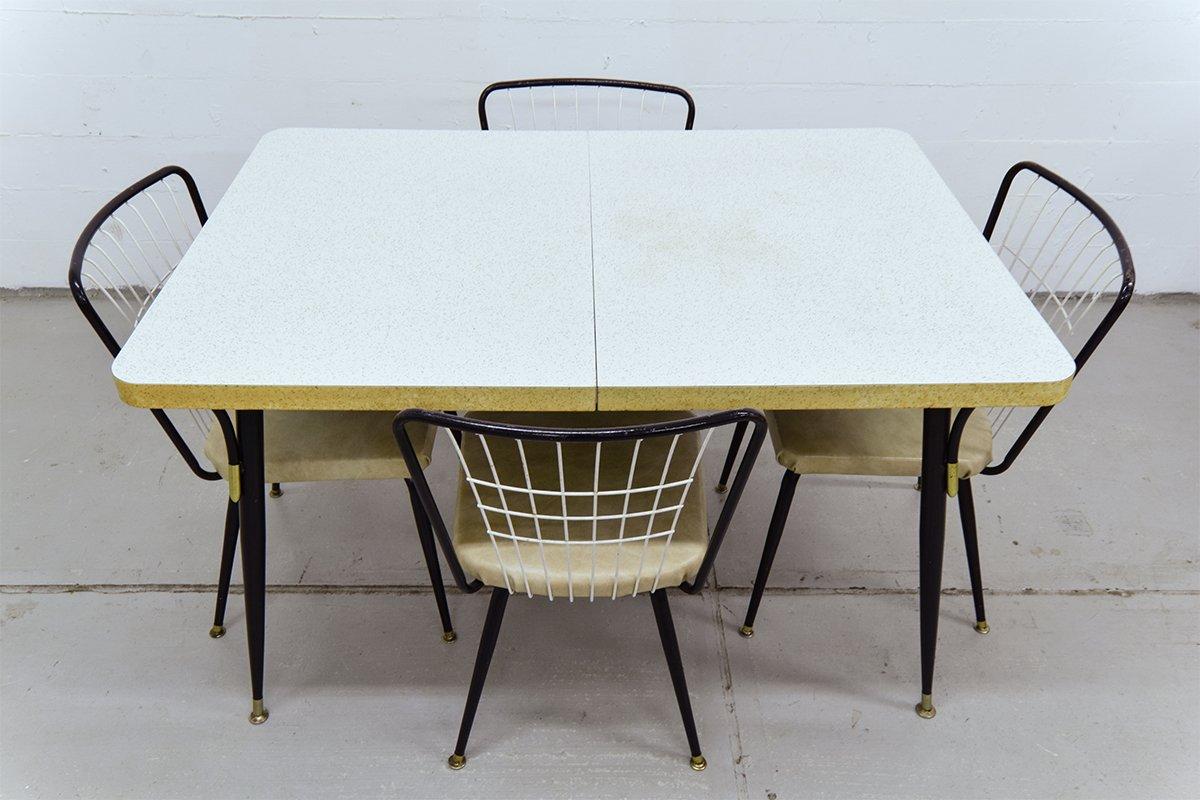 Vintage esstisch mit vier st hlen bei pamono kaufen for Esstisch mit stuehlen