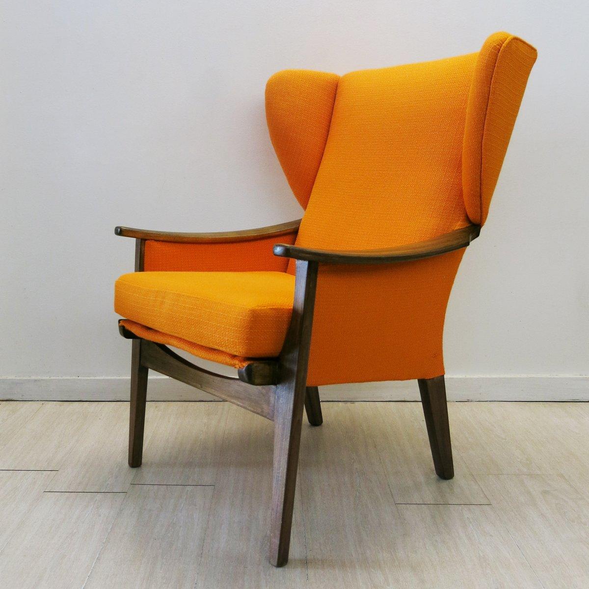 orangefarbener vintage sessel von parker knoll 1960er bei. Black Bedroom Furniture Sets. Home Design Ideas