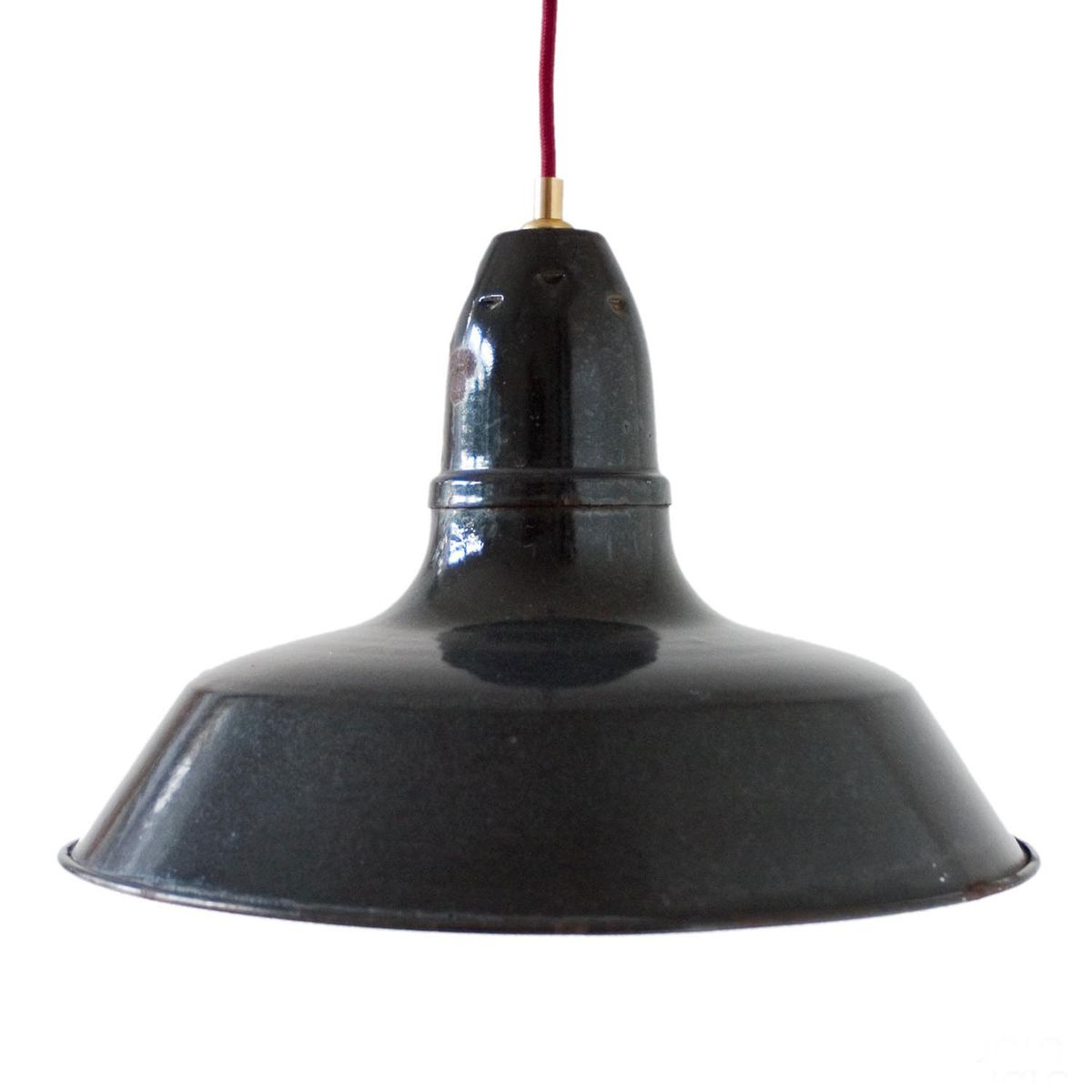 vintage sale industrial lamp pendant black for at pamono french enameled