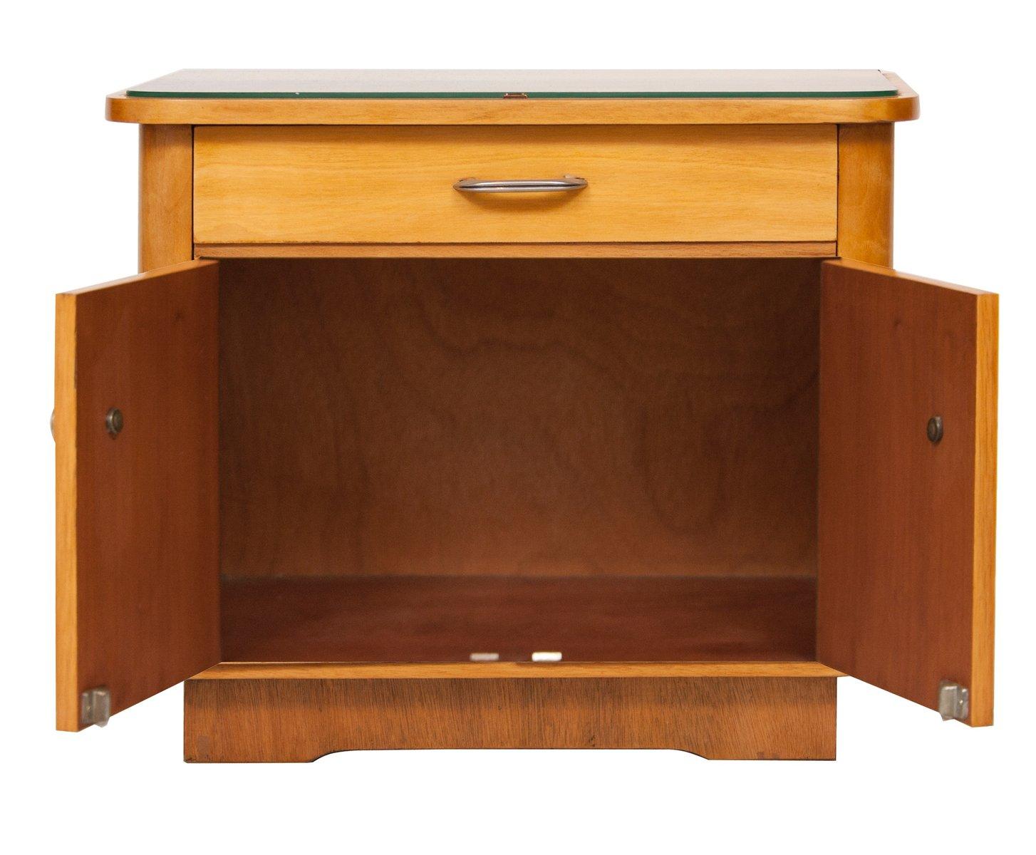 vintage eschenholz beistelltisch bei pamono kaufen. Black Bedroom Furniture Sets. Home Design Ideas